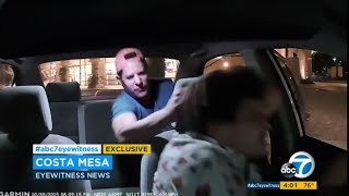 Vicious Attack On Uber Driver in Orange County Caught On Camera