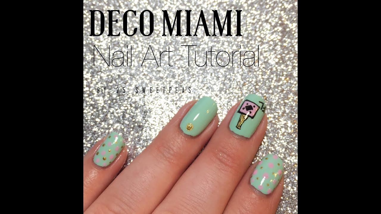 Deco Miami Polish Nail Art Tutorial - YouTube