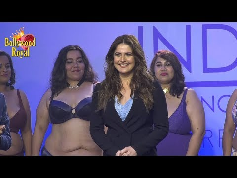 Zarine Khan As Showstopper For Plus Size India Intimate Parfait Fashion Show SS19 Part-2