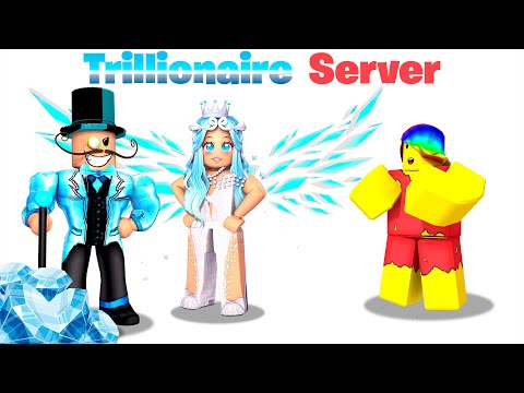I joined a TRILLIONAIRE ONLY Server.. I was POOR 💎💠(Roblox)