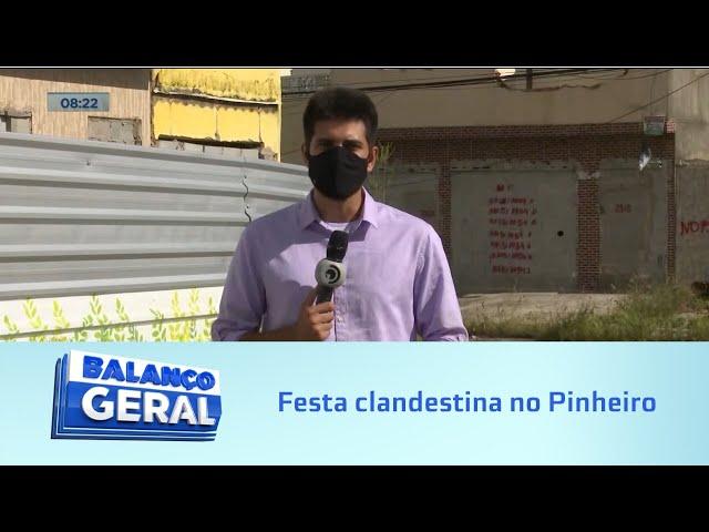 Festa clandestina: Flagrante de festa em área evacuada por instabilidade de solo
