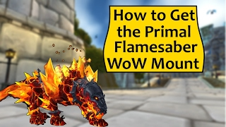 Primal Flamesaber - Heroes of the Storm WoW Mount Promotion!
