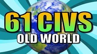 61 CIVS AI ONLY OLD WORLD BATTLE! | Civilization 5 Gameplay [Civ 5 Deity] Part 1