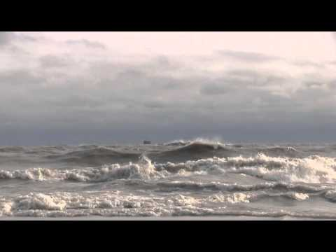 REAL TIME MORNING Waves at Oak Street Beach Chicago Illinois 10-31-2012