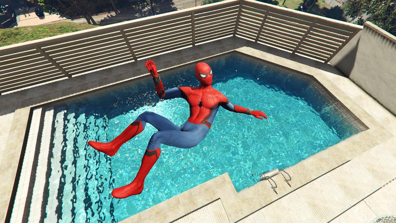 Download GTA 5 Funny Spiderman ragdolls vol.3