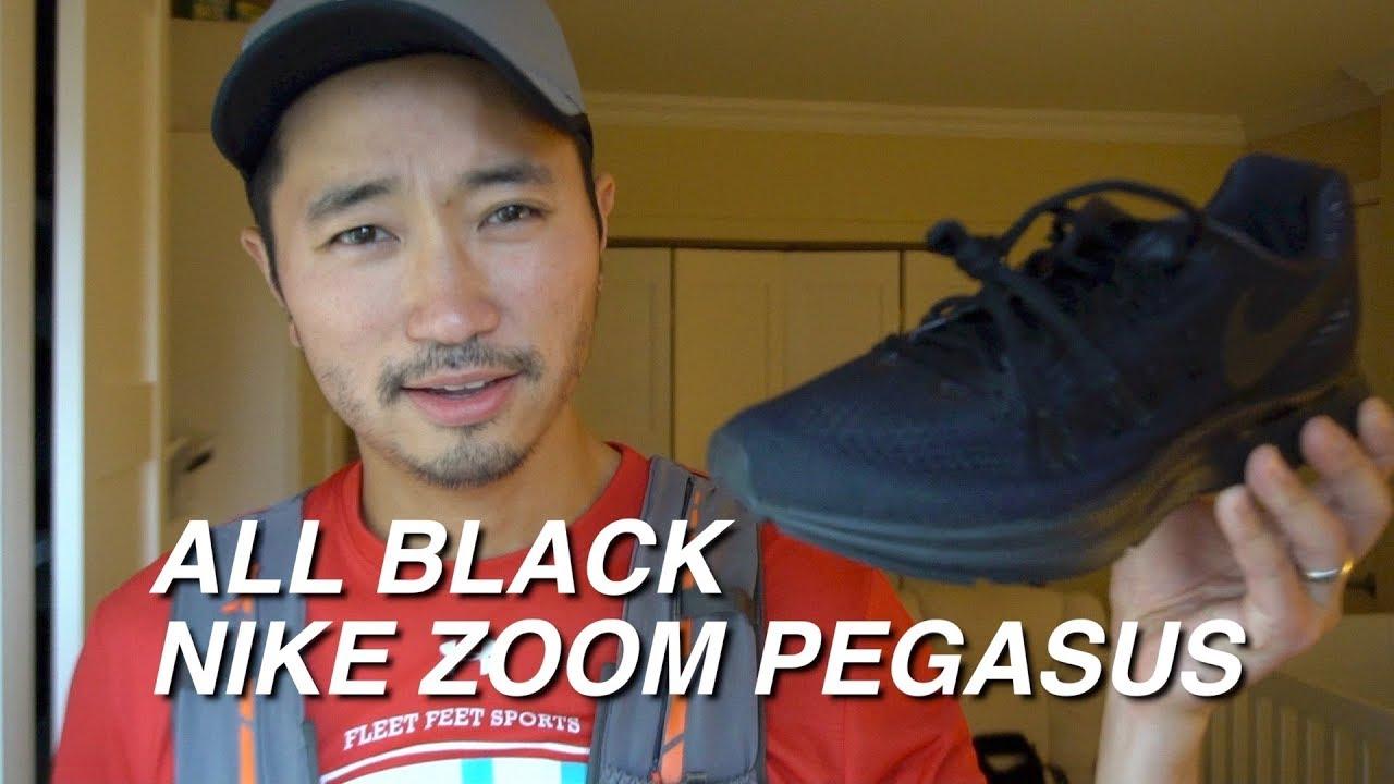 cddbfe2e765c1 NIKE ZOOM PEGASUS ALL BLACK - 8 MILE RUN  notspon - YouTube
