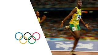 Usain Bolt Breaks 3 World Records | Beijing 2008 Olympics