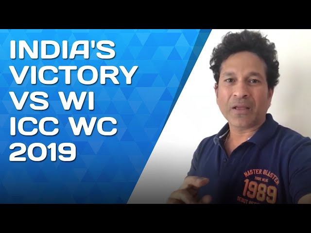 Indias brilliant win Vs West Indies | ICC Cricket World Cup 2019 | #SachInsight