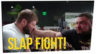 Russian City Holds Face Slapping Championship!