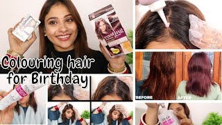 I colored my hair for my birthday || new hair color at home