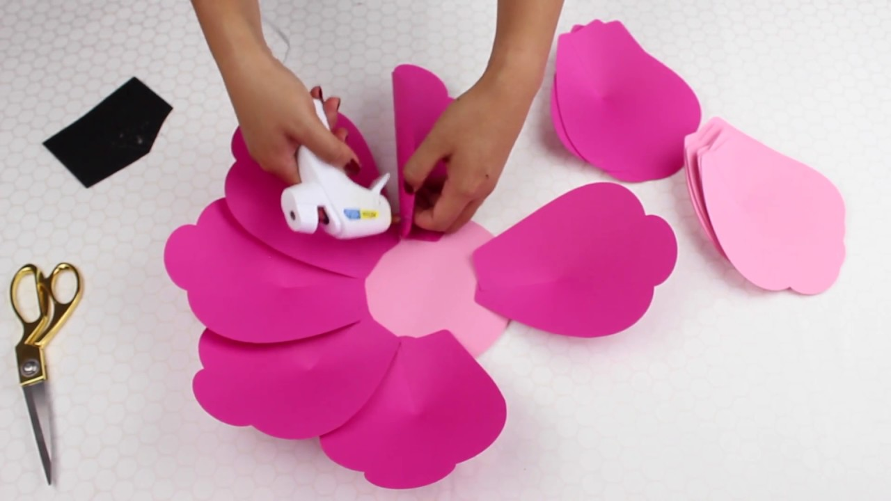 Diy Paper Flower Tutorial Using Template 9 Youtube