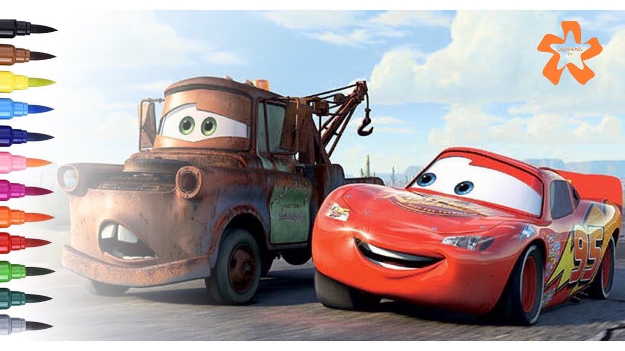 Cars 3 Lightning Mcqueen And Mater Coloring Pages For