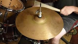 """vintage paiste 1000 series 14"""" rude hi hats / 14"""" crash & double A drums"""