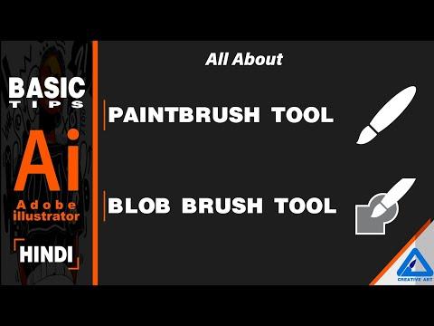 Adobe Illustrator | Basic Tips | Paint Brush Tool | Blob Brush Tool | Hindi