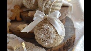 Tutorial decorazioni di Natale - Palline shabby