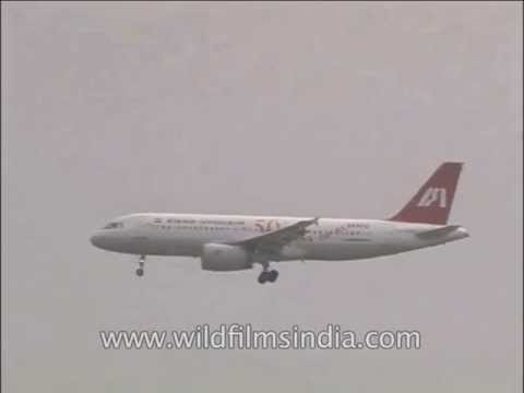 50 years of flying: Indian Airlines plane landing at IGI Airport, Delhi, around 2003