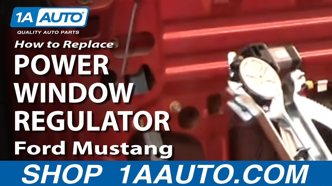 how to install replace power window motor regulator ford mustang 94 04 1aauto com youtube [ 1280 x 720 Pixel ]