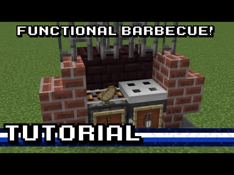 Minecraft functional outdoor barbecue tutorial youtube - Comment faire prendre un barbecue ...