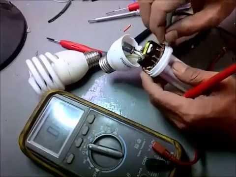 Cara Membongkar Lampu Hemat Energi Philips Youtube