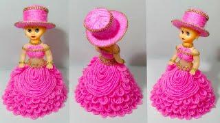ऊन कि गुड़िया सजाने का आसान तरीका / WOOLEN DOLL DECOR/DIY WOOL DOLL CRAFT/WOOLEN CRAFT/OON KI GUDIYA