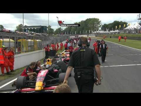 20090719 Henry Surtees FIA Formula 2 at Brands Hatch Crash Extended