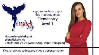 Английский для бортпроводников, собеседование (EnglishSky, Elementary level 1)