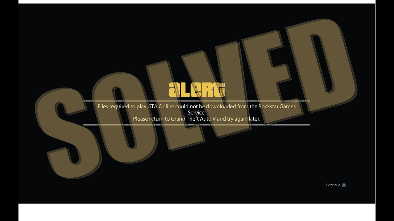 Solved Files Required To Play Gta Online Could Not Be Downloaded From The Rockstar Games Service Youtube