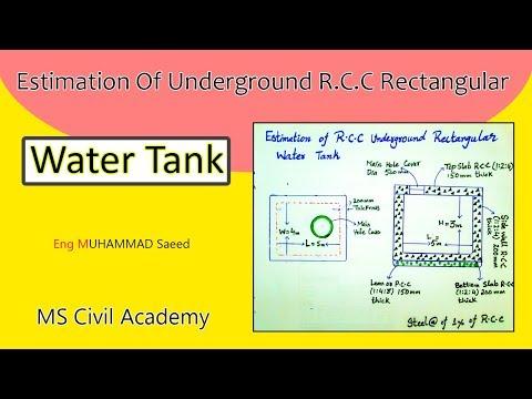 Estimate Of RCC Underground Rectangular Water Tank|Best