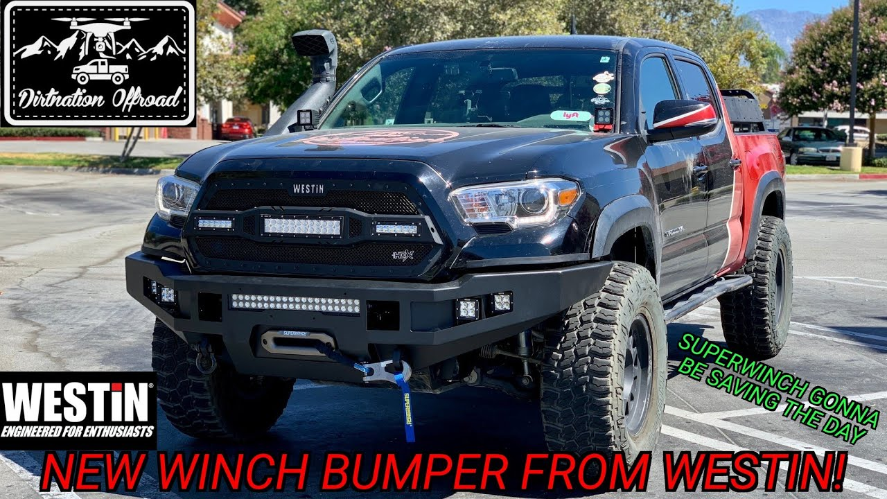 Tacoma finally got a winch! New Westin prototype bumper for 3rd ten Tacomas!