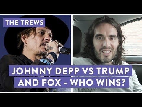 Johnny Depp vs Trump & Fox - Who Wins? Russell Brand The Trews (E428)