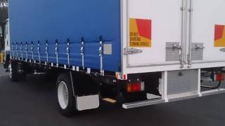 Rattling Truck Reversing past with Beep Beep Sound Effect, back up alarm or reverse beeper, audio