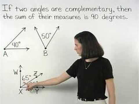 Complementary Angles Mathhelpcom Geometry Help Youtube