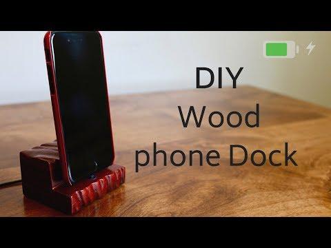 DIY Iphone Charging dock // Woodworking