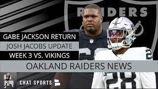 Raiders News: Josh Jacobs, Tyrell Williams, Trent Brown, Injury Updates Before Week 3 vs. Vikings