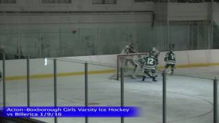 Acton Boxborough Varsity Girls Ice Hockey vs Billerica 1/9/16