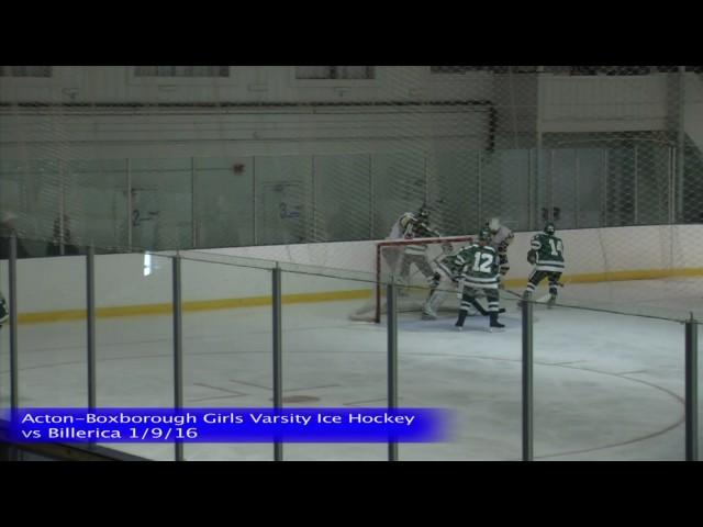Acton Boxborough Varsity Girls Ice Hockey vs Billerica 1/9/16