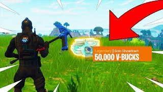 PLAYING FOR 50,000 VBUCKS LIVE! INSANE SOLO SHOWDOWN GAMEMODE! Fortnite Battle Royale