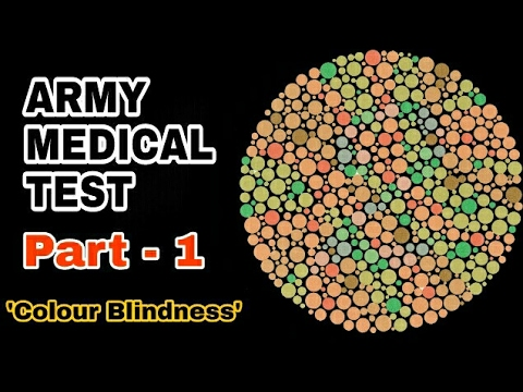 Army medical test eye  color blindness ishihara also rh youtube