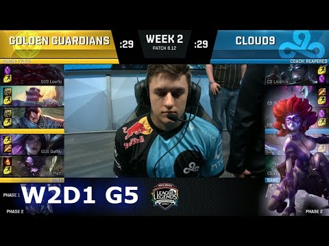 Golden Guardians vs Cloud 9 | Week 2 Day 1 S8 NA LCS Summer 2018 | GGS vs C9 W2D1
