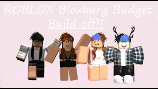 5 People Small Budget Home Build Off || Roblox Bloxburg
