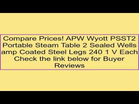 APW Wyott PSST Portable Steam Table Sealed Wells Amp Coated Steel - Apw wyott steam table