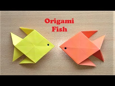 How To Make Origami Paper Fish Very Easy Paper Fish Youtube