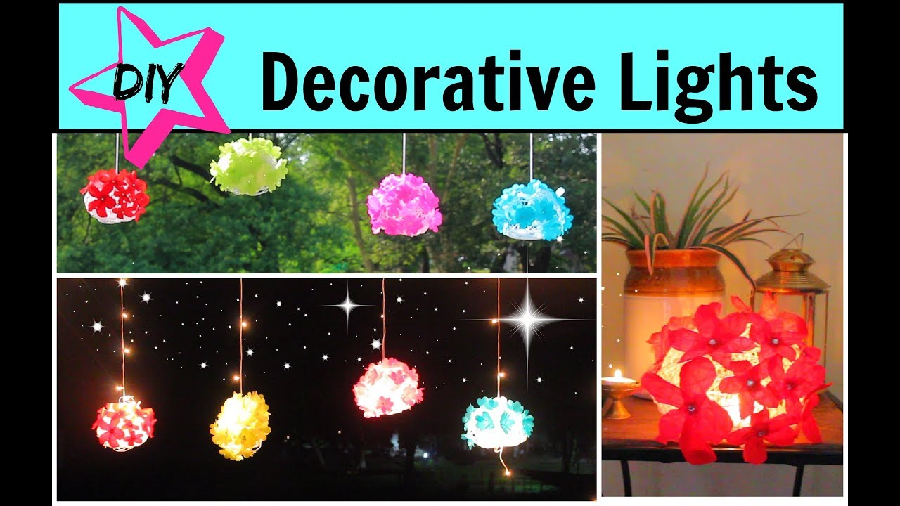 Diy Diwali Lights Lantern Decoration Ideas Using Paper And Yarn