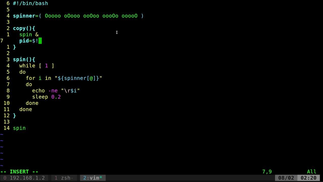 03 Shell Script Spinner Animation Tutorial