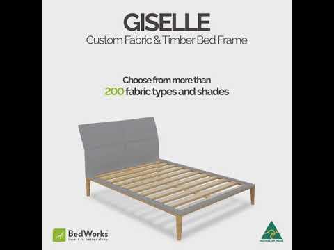 Giselle Custom Fabric & Timber Bed Frame | Bedworks