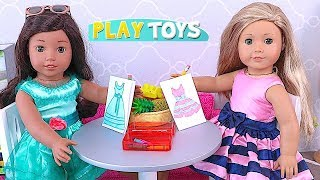 AG Dolls Draw Dresses and Shoes for Magical Play Toys! 🎀