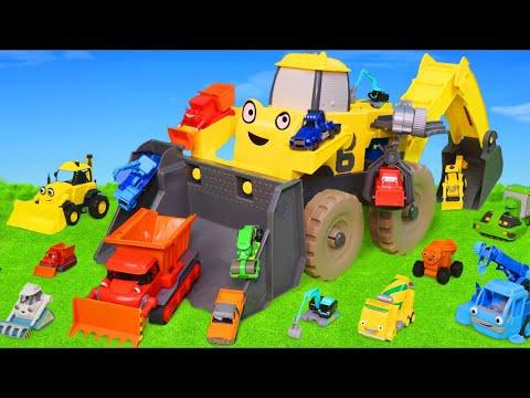 Bob Usta Ekskavatör Ve Yeni Arabalar çizgi Film Arabası - Excavator Toys