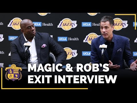 Lakers Exit Interviews 2018: Earvin Magic Johnson & Rob Pelinka (With Time Stamps!)