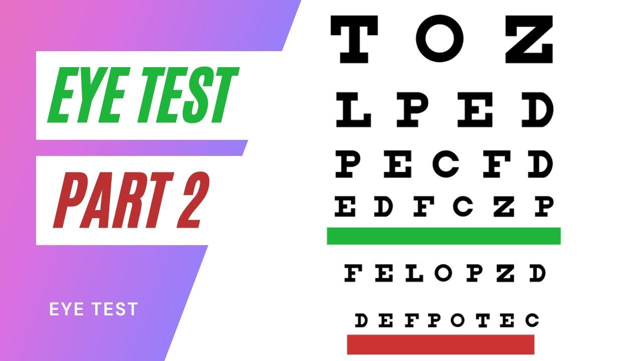 ab63c520a72 The Eye Test PART 2 - YouTube