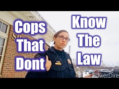 16 Year Old Knows The Law More Than These Cops